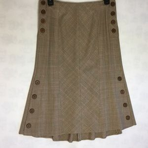 Blumarine Plaid Fluted A-line Skirt Italy 4